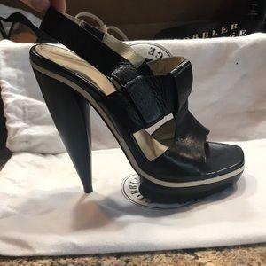 "Balenciaga Black sz 39 6"" heels killer"